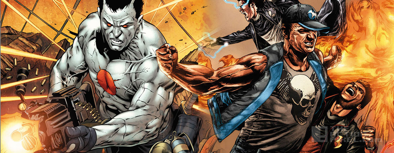bloodshot and Harbinger. Valiant comics. the action pixel. @theactionpixel