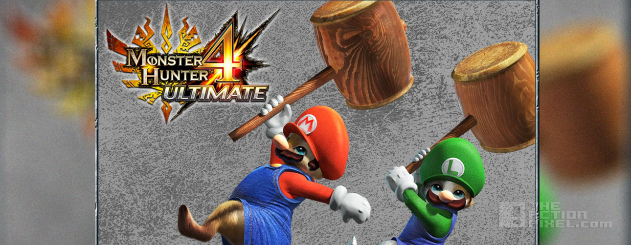 monster hunter 4 ultimate. mario and luigi. capcom. nintendo. the action pixel. @theactionpixel