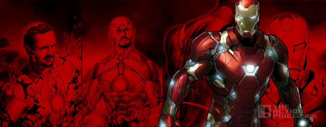 iron man bleeding edge. captain america. civil war. the action pixel. @theactionpixel