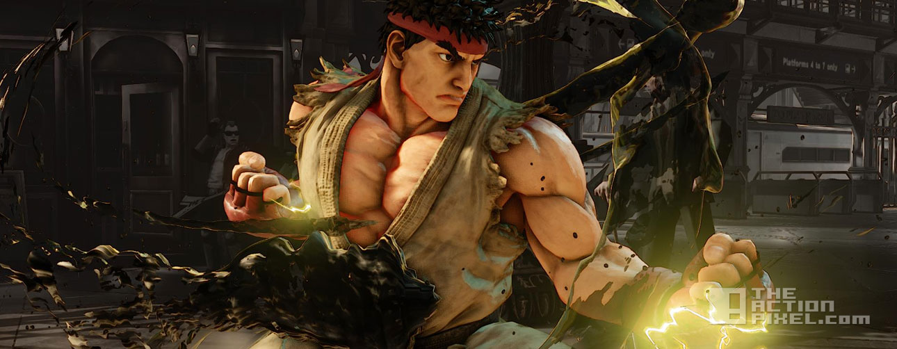 street fighter v Ryu Dark Hado. street fighter v screenshots. capcom. the action pixel. @theactionpixel