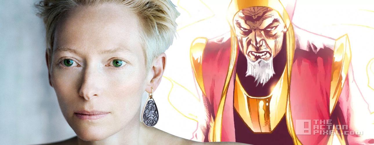 tilda Swinton is the Ancient One. doctor strange. marvel. the action pixel. @theactionpixel