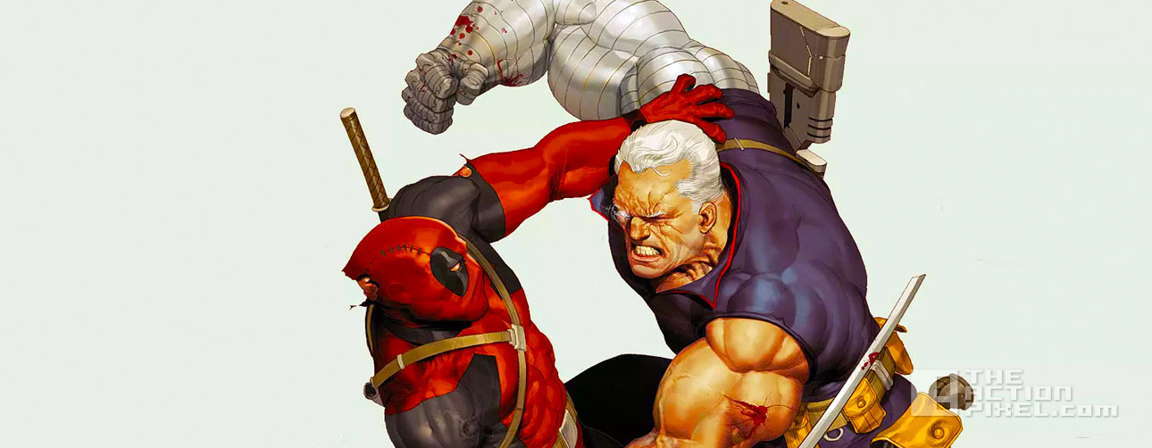 deadpool vs cable. marvel. the action pixel. @theactionpixel