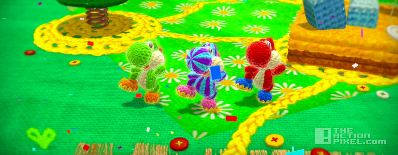 yoshi's woolly world. the action pixel. @theactionpixel. entertainment on tap. nintendo