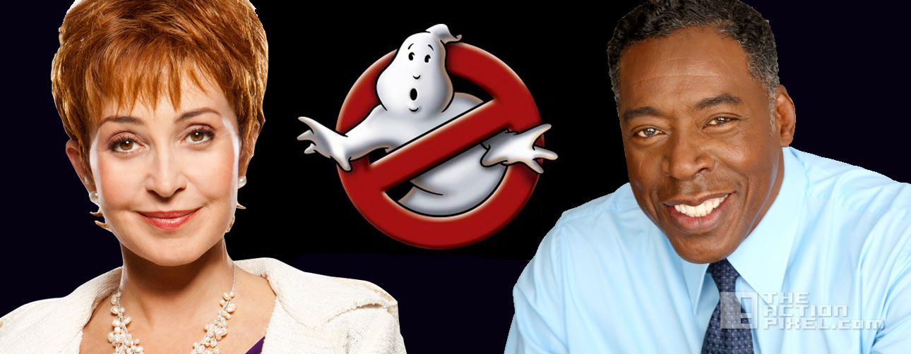 ghostbuster cameos banner. ernie hudson. annie potts. the action pixel. @theactionpixel
