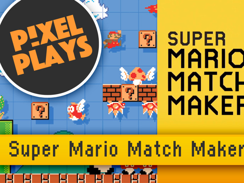 pixel plays. super mario match maker. nintendo. entertainment on tap. the action pixel. @theactionpixel