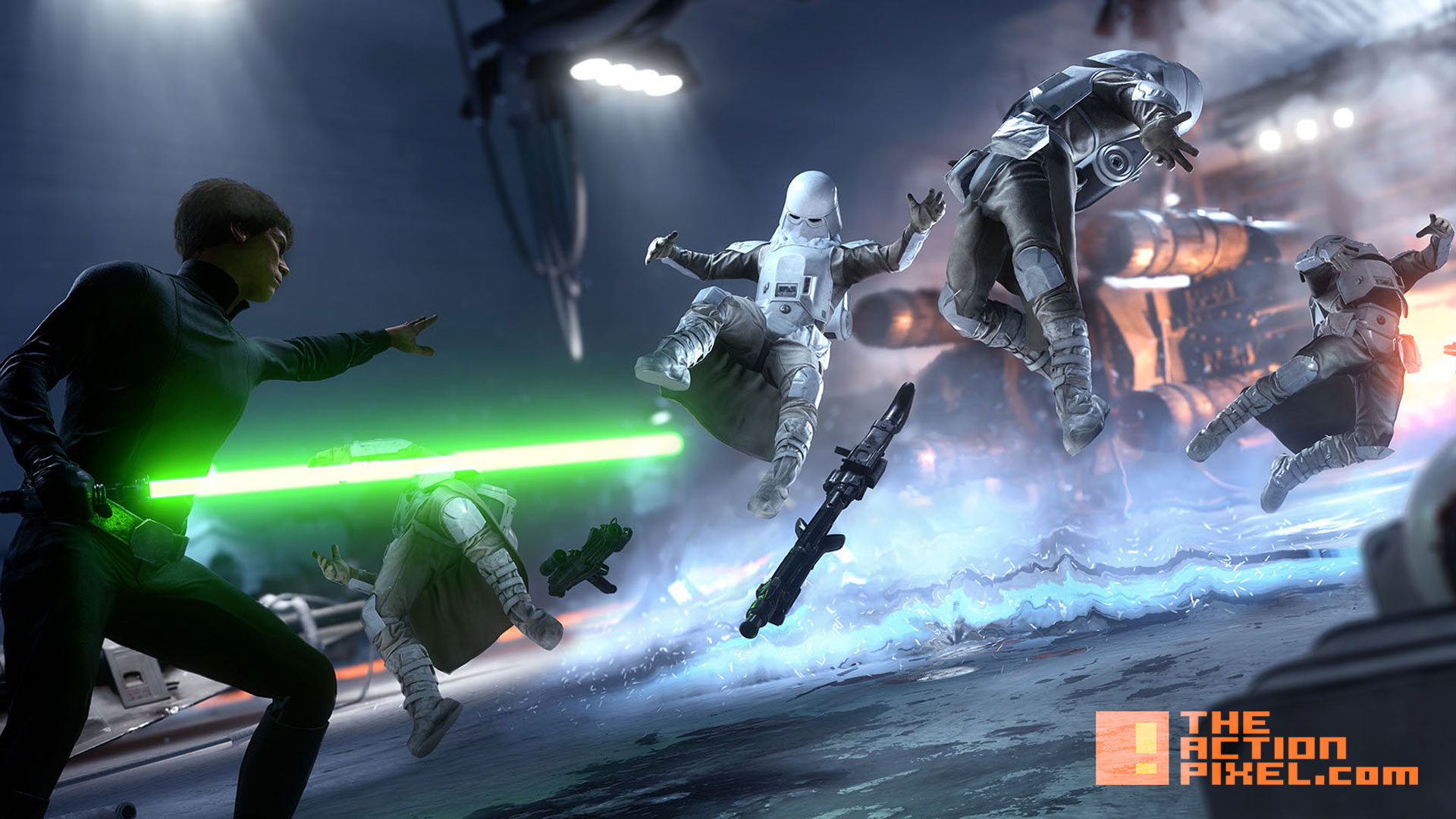 star wars battlefield. luke skywalker. force . ea . dice games. the action pixel. @theactionpixel