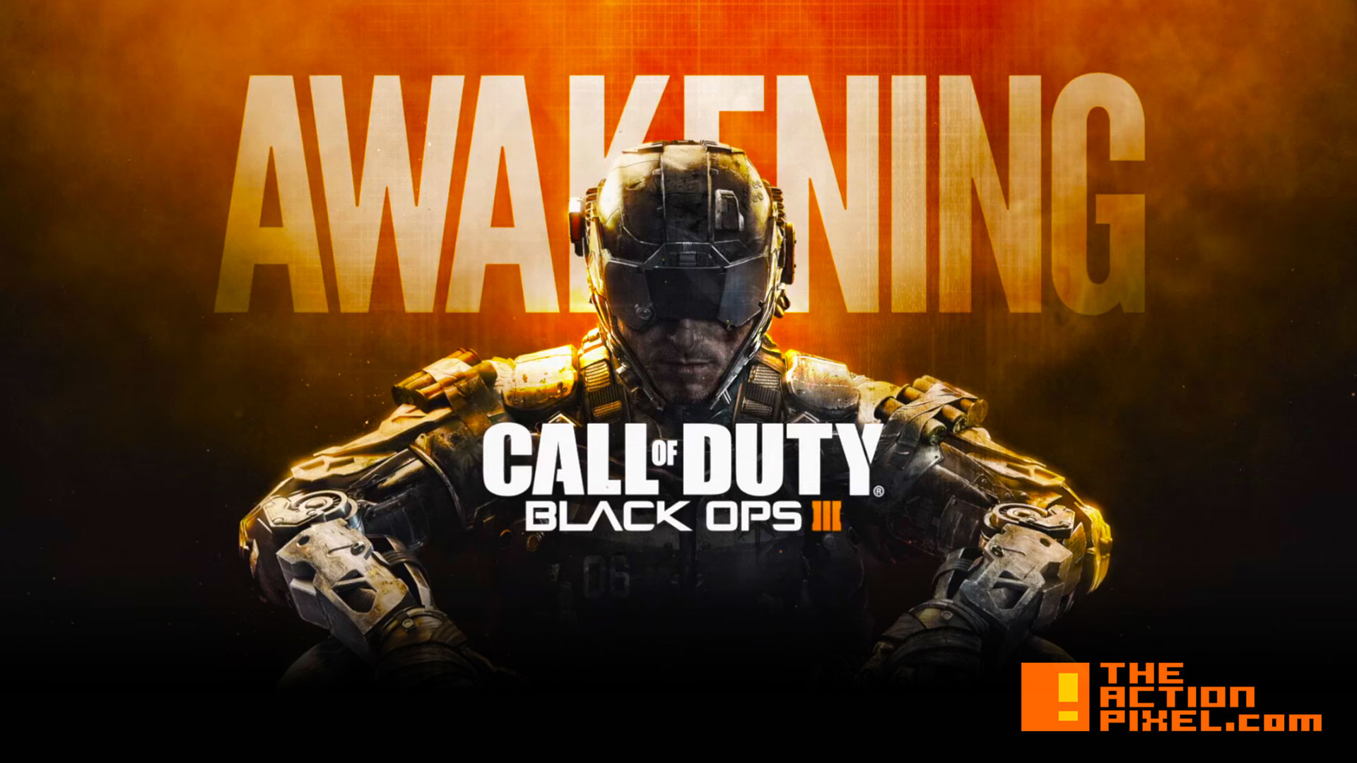 call of duty BLACK OPS III 3 awakening. ACTIVISION . TREYARCH. ENTERTAINMENT ON TAP. @THEACTIONPIXEL. THE ACTION PIXEL