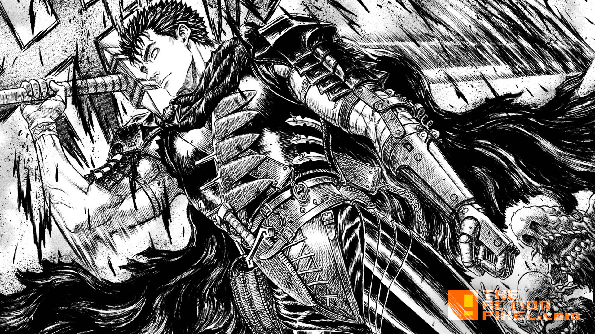 berserk. guts. black swordsman. @theactionpixel. the action pixel