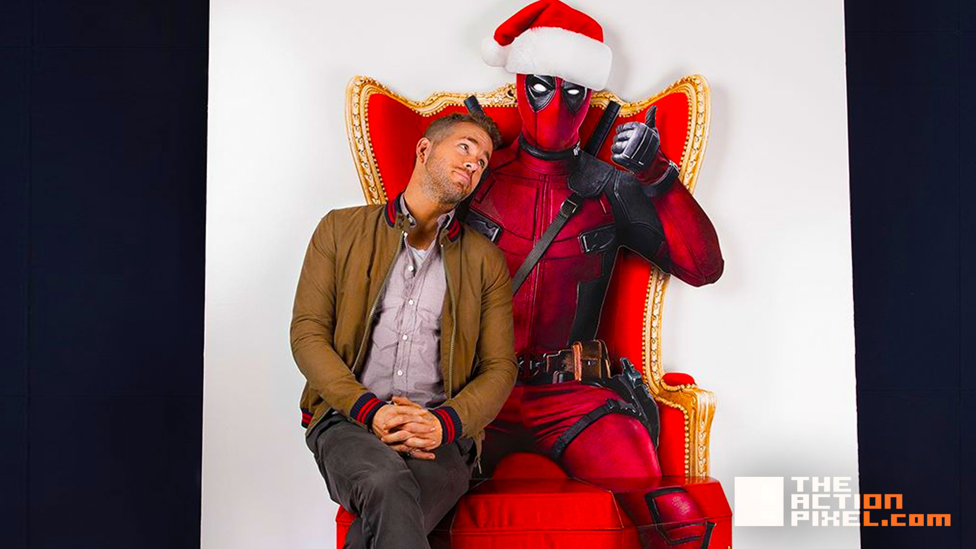 deadpool santa ryan reynolds. deadpool. #12daysofChristmas. 20th century fox. marvel. the action pixel. @theactionpixel