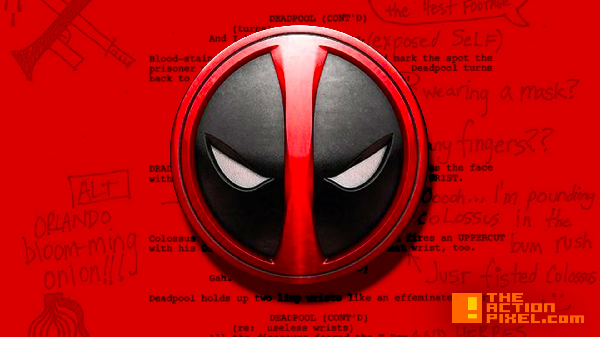 deadpool script. the action pixel. 20th century fox. marvel. the action pixel. @theactionpixel
