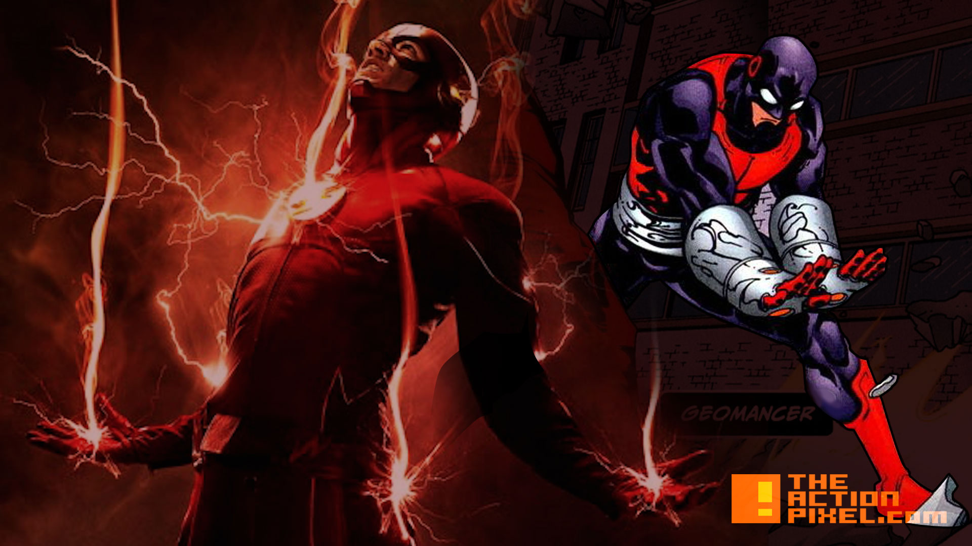 the flash. geomancer. dc comics. the cw network. the action pixel. entertainment on tap