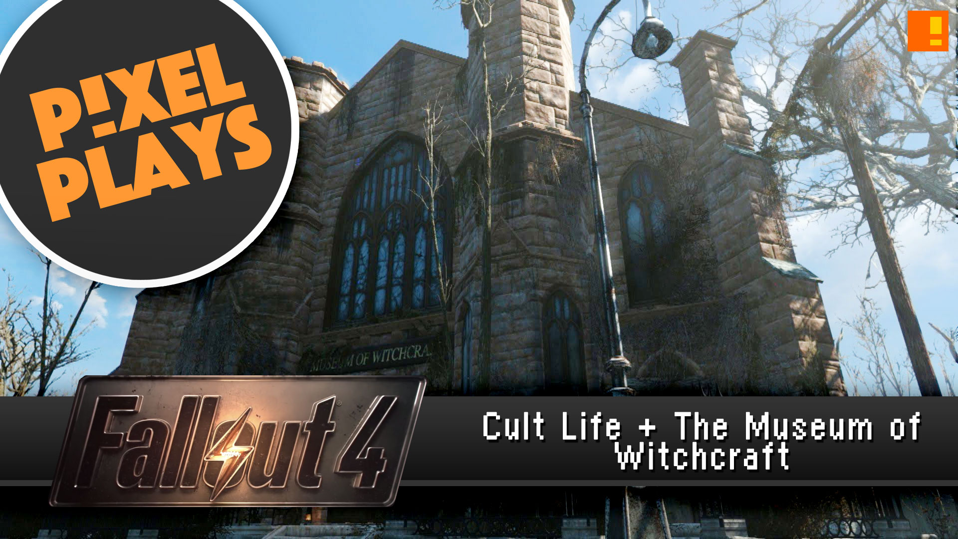 pixel plays fallout 4 museum of Witchcraft #EntertainmentOnTAP