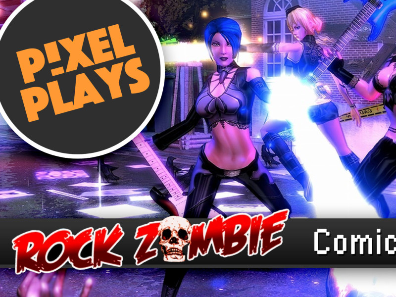 Pixel plays: rock zombie comic limbo. the action pixel. @theactionpixel. #pixelplays