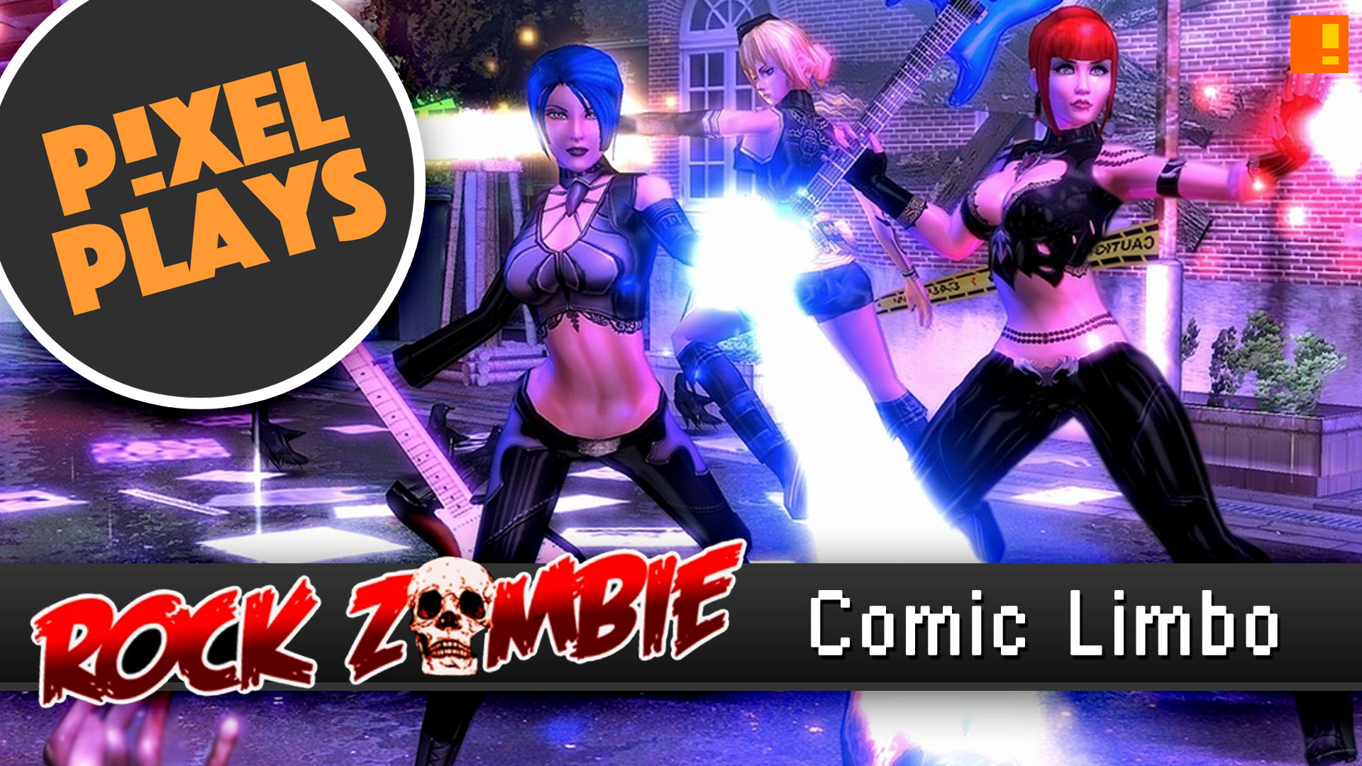 Pixel plays: rock zombie comic limbo. the action pixel. @theactionpixel. #pixelplays