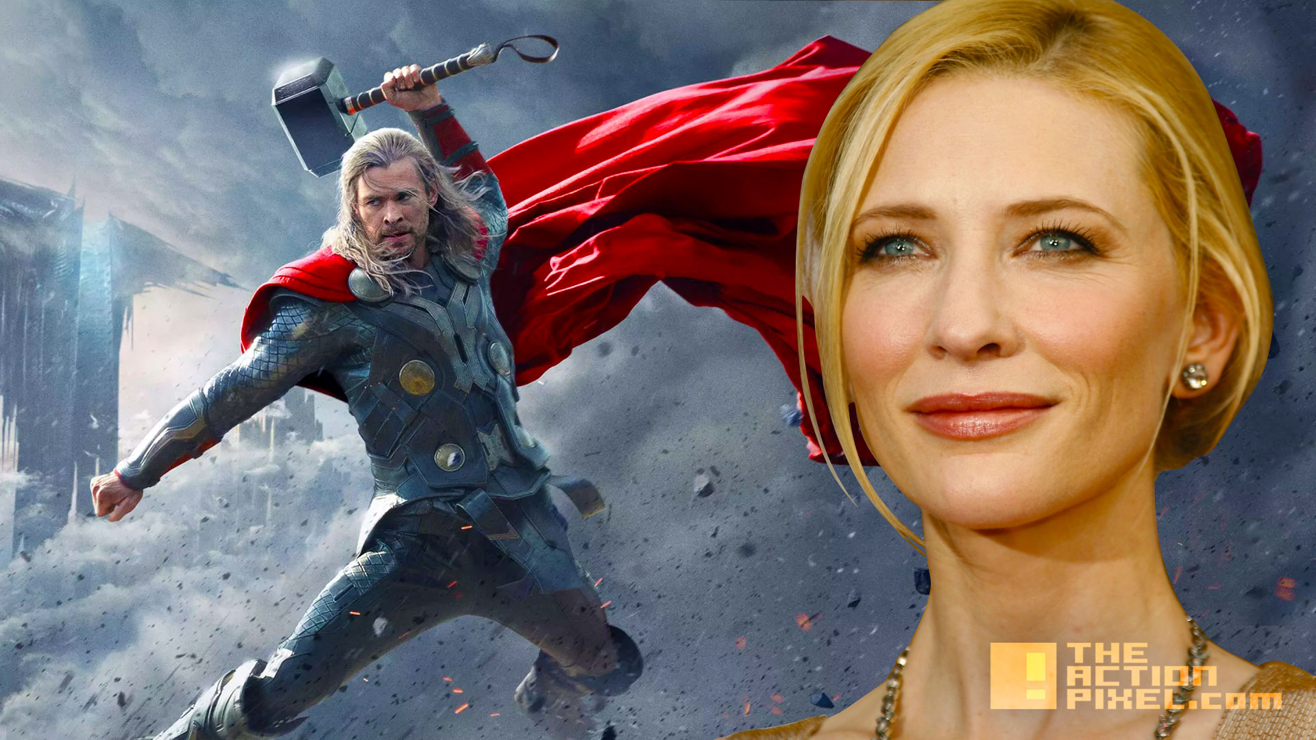 thor. cate blanchett cast for thor ragnarok. marvel. the action pixel. @theactionpixel