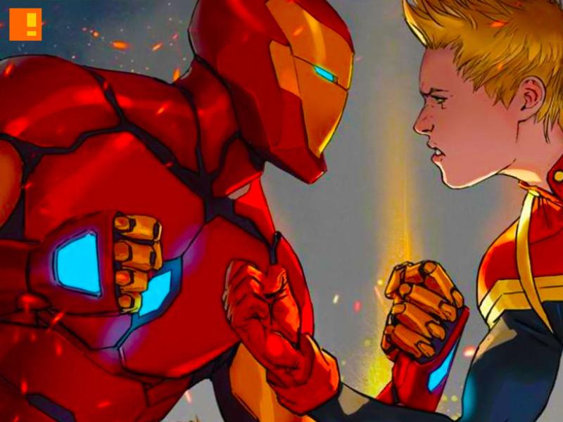 ironman captain marvel. civil war. the action pixel. #EntertainmentOnTAP