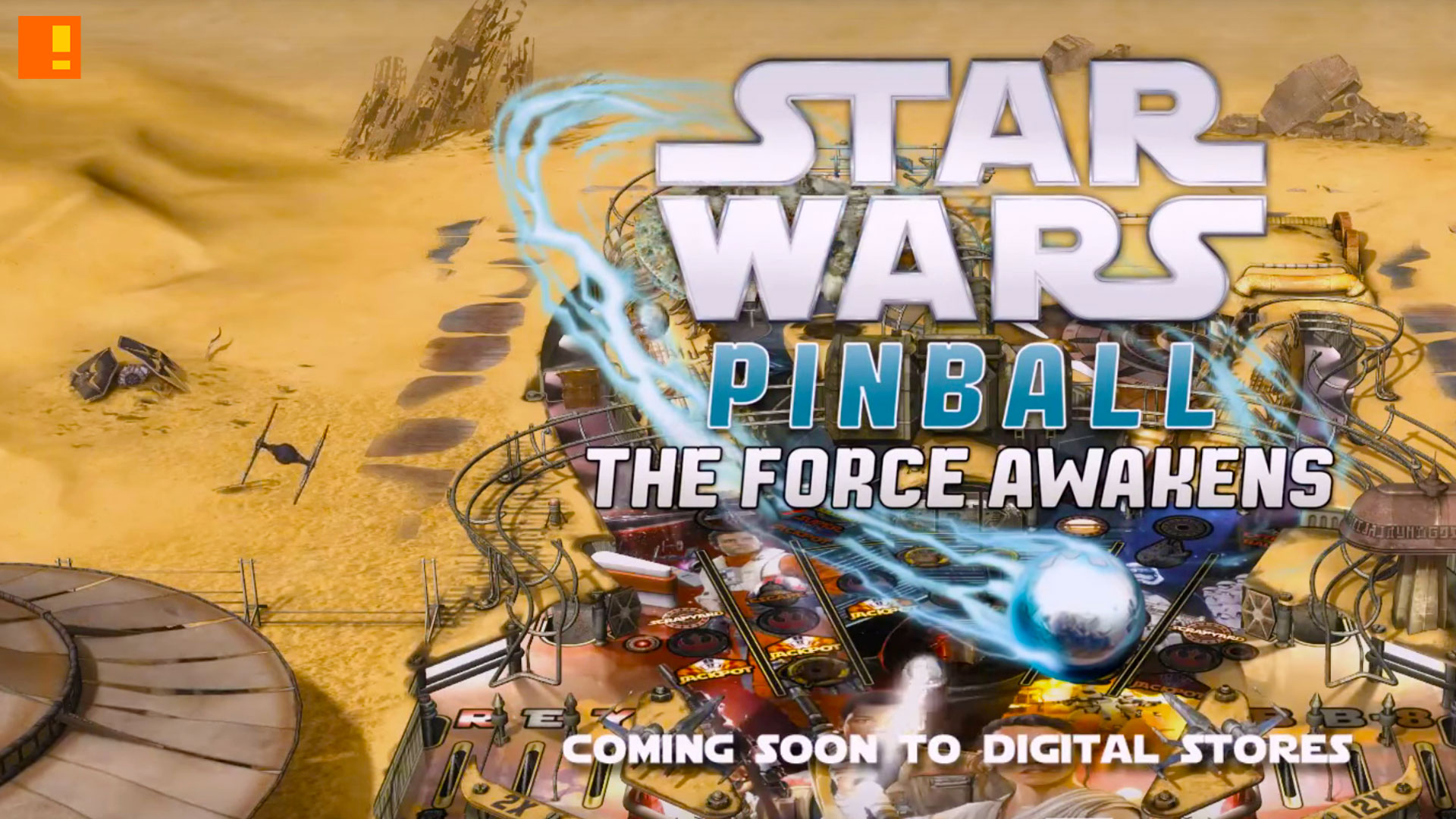 star wars pinball the force awakens. zen studios, lucasfilm, disney. the action pixel. @theactionpixel. #EntertainmentOnTAP