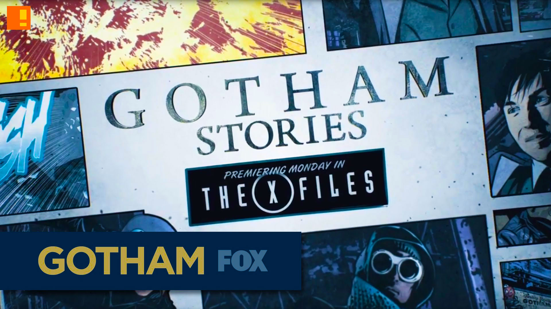 gotham series. fox. gotham stories. gotham's underworld. fox. the x files.entertainment on tap