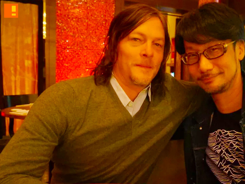hideo kojima. norman reedus. the action pixel. @theactionpixel