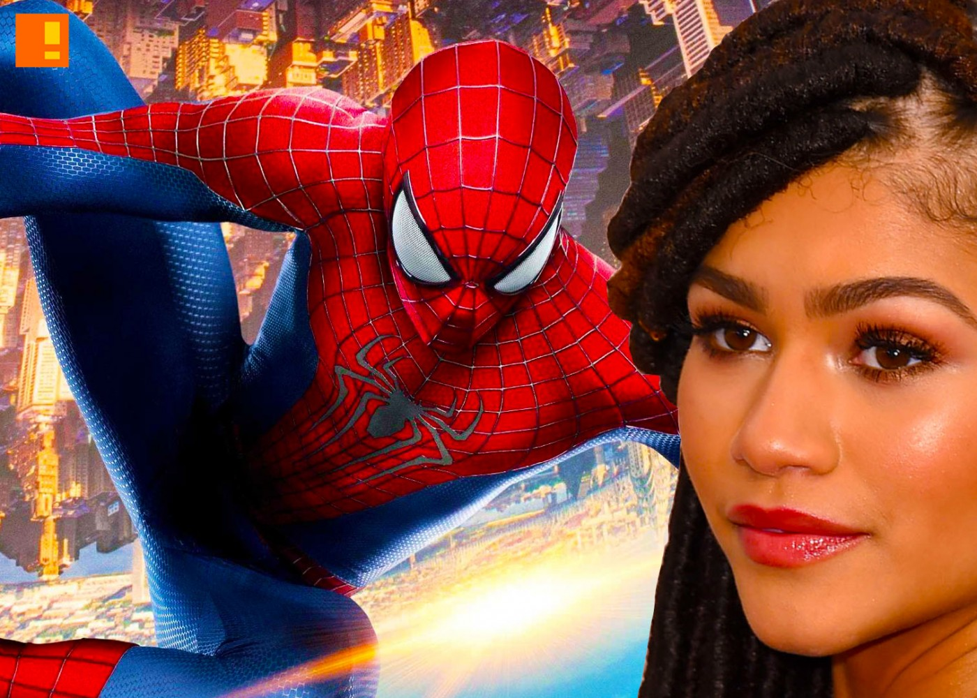 spider-man casts zedayna. marvel. the action pixel. entertainment on tap. the action pixel. @theactionpixel