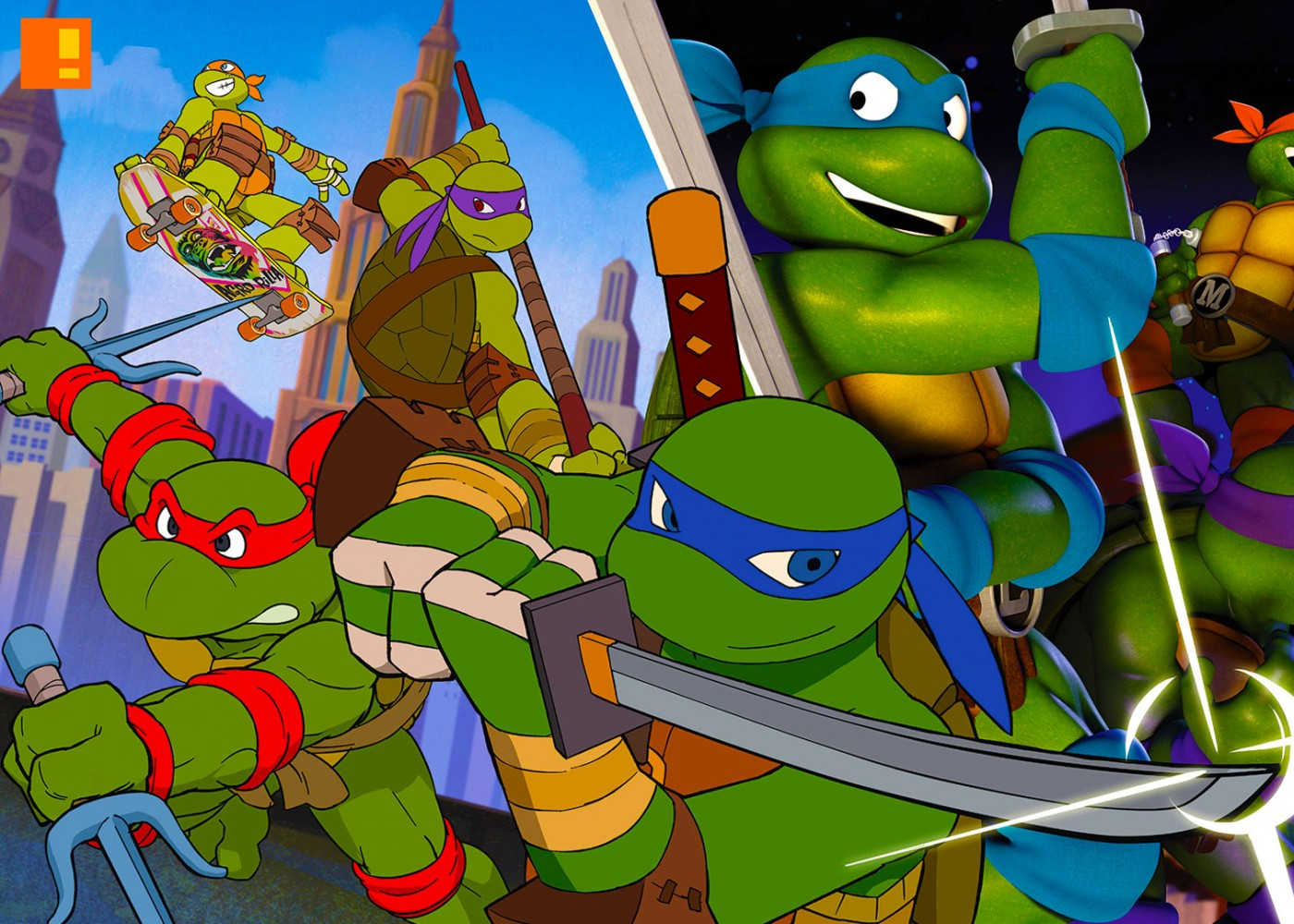 tmnt. 80's crossover. nickelodeon. the action pixel. @theactionpixel