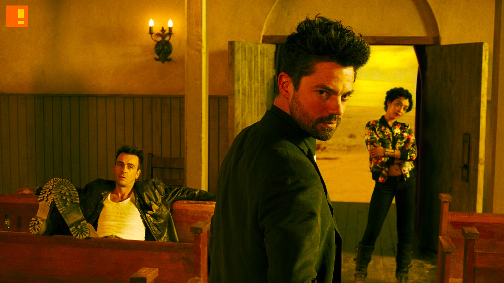 preacher, amc, vertigo comics, dc comics, tv series, comic book, comic book tv series, adaptation, jesse custer, assface, dominic cooper, tulip, cassidy, annville, texas, amc, entertainment on tap, the action pixel, trailer, teaser