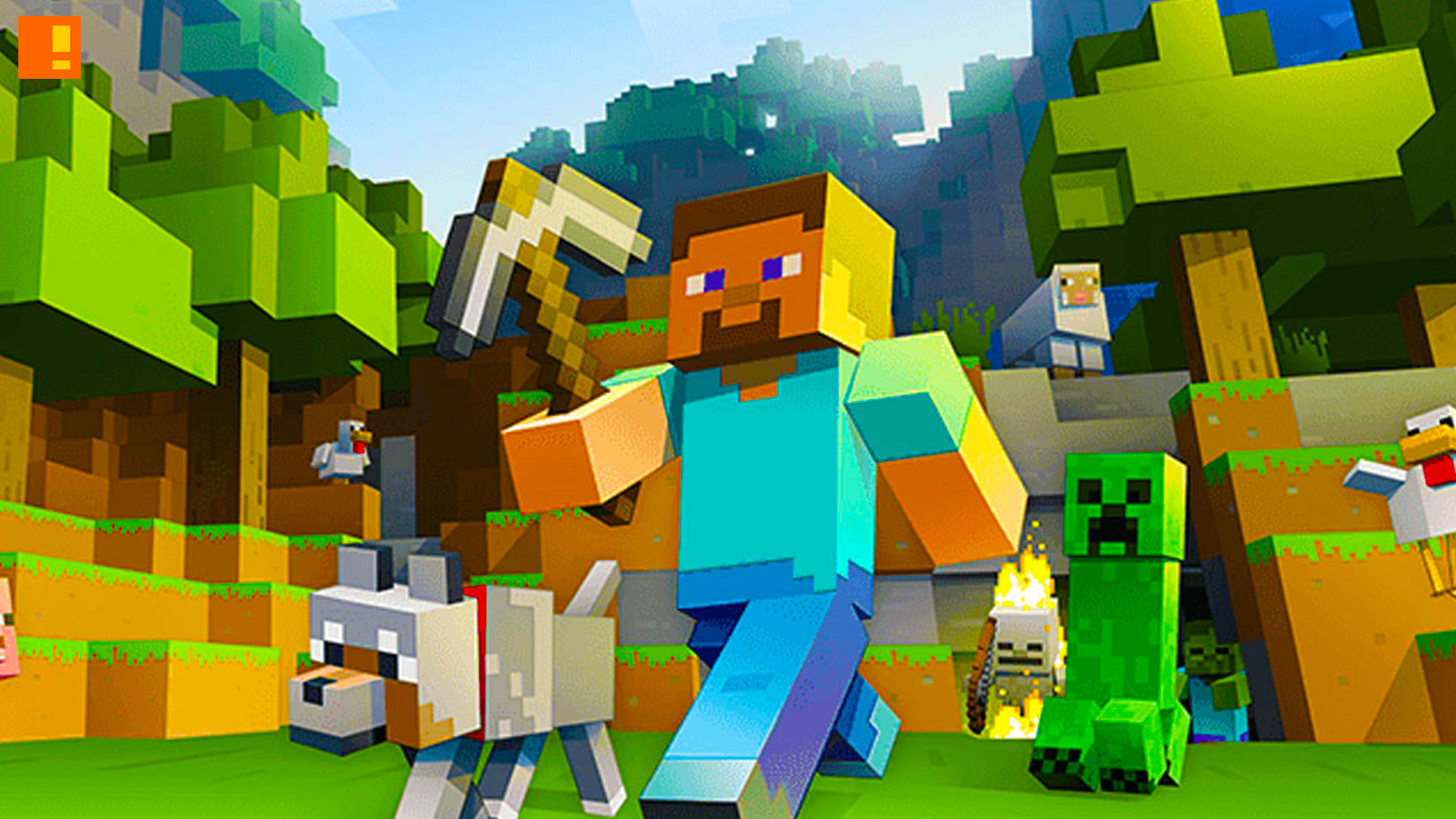 minecraft, the action pixel, entertainment on tap, windows, pc, windows 10, xbox, the action pixel, entertainment on tap, xbox, xbox one, realm, cross-play,