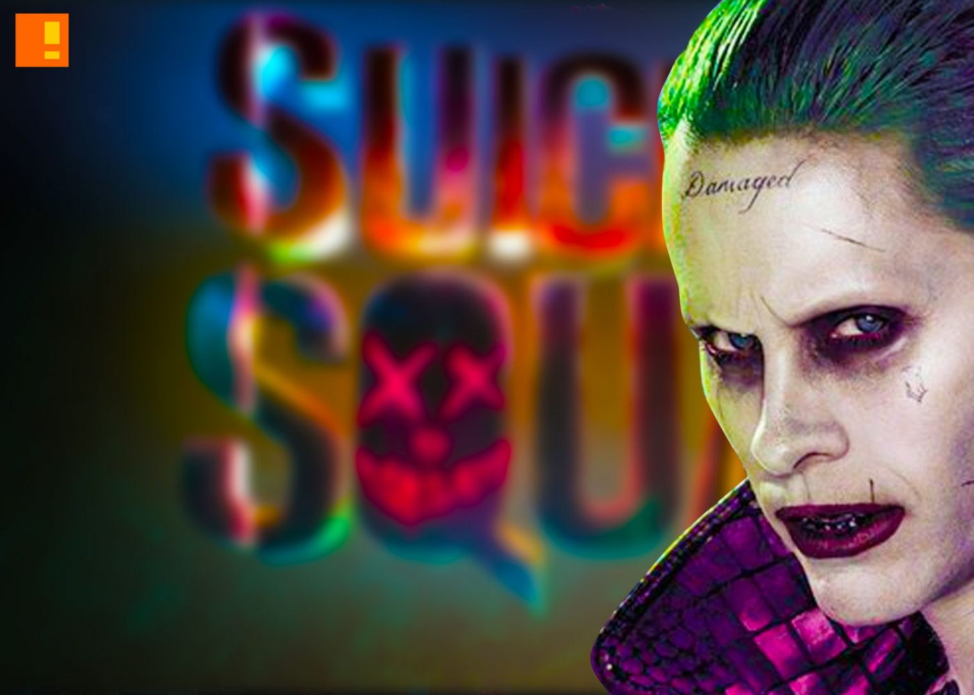 suicide squad, joker, banner, poster, entertainment on tap, the action pixel,