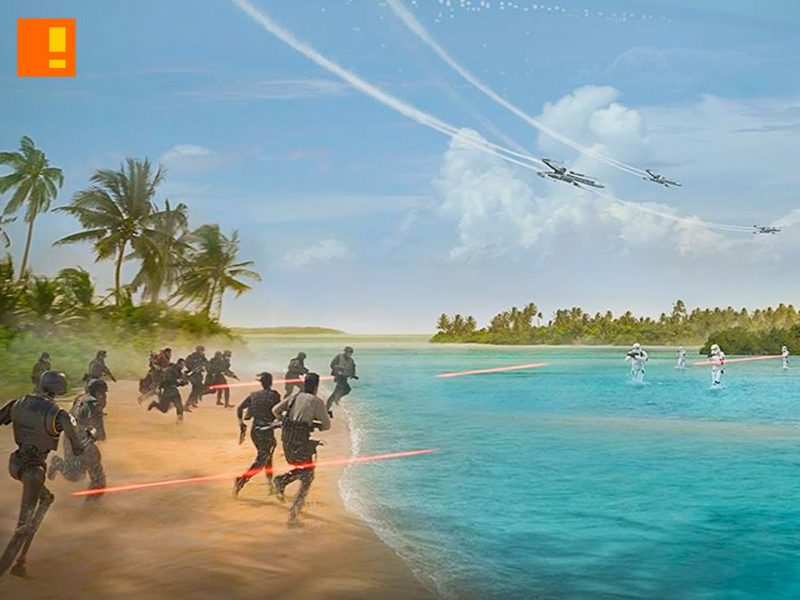 rogue one, star wars, a star wars story, poster, lucasfilm ,star wars celebration, entertainment on tap, the action pixel,