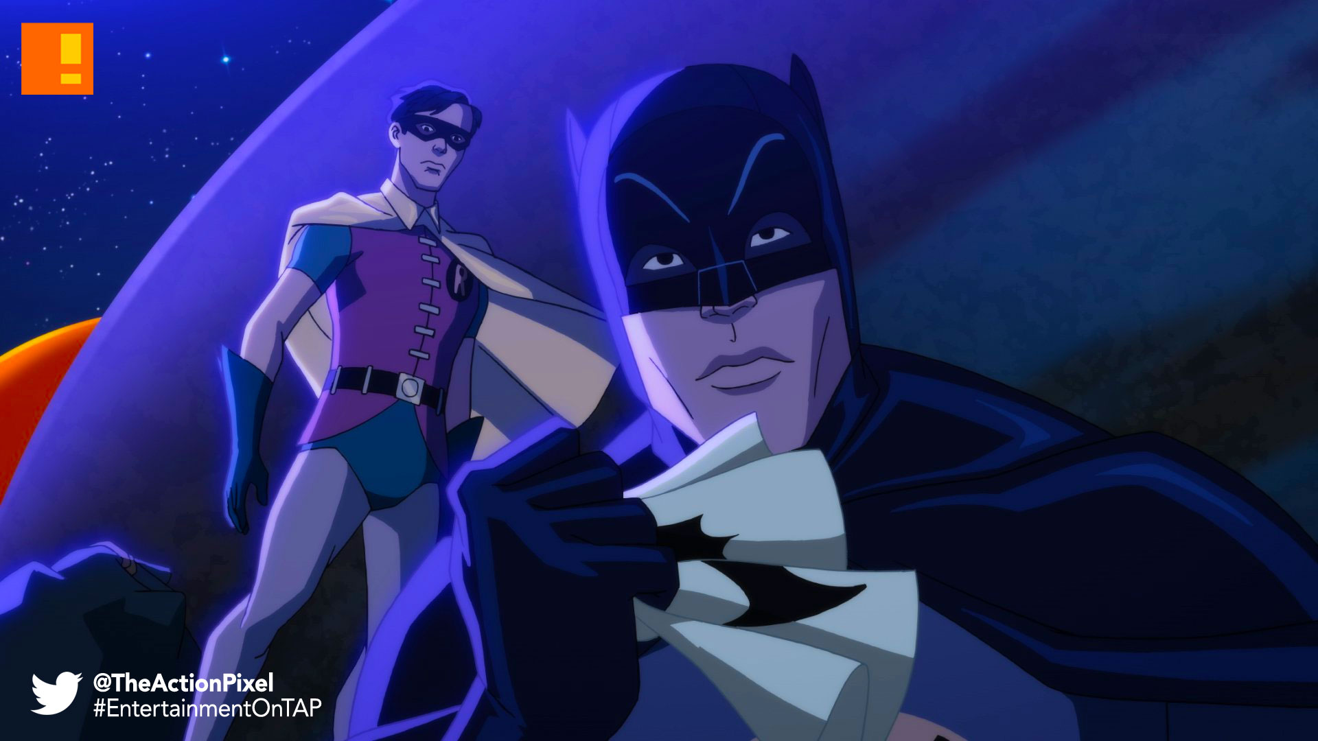 batman: return of the caped crusaders, caped crusaders, batman, dc comics, warner bros. wb animation, animation, robin, adam west, joker, penguin, the riddler, dc comics, dc, gotham, nycc, new york comic con,