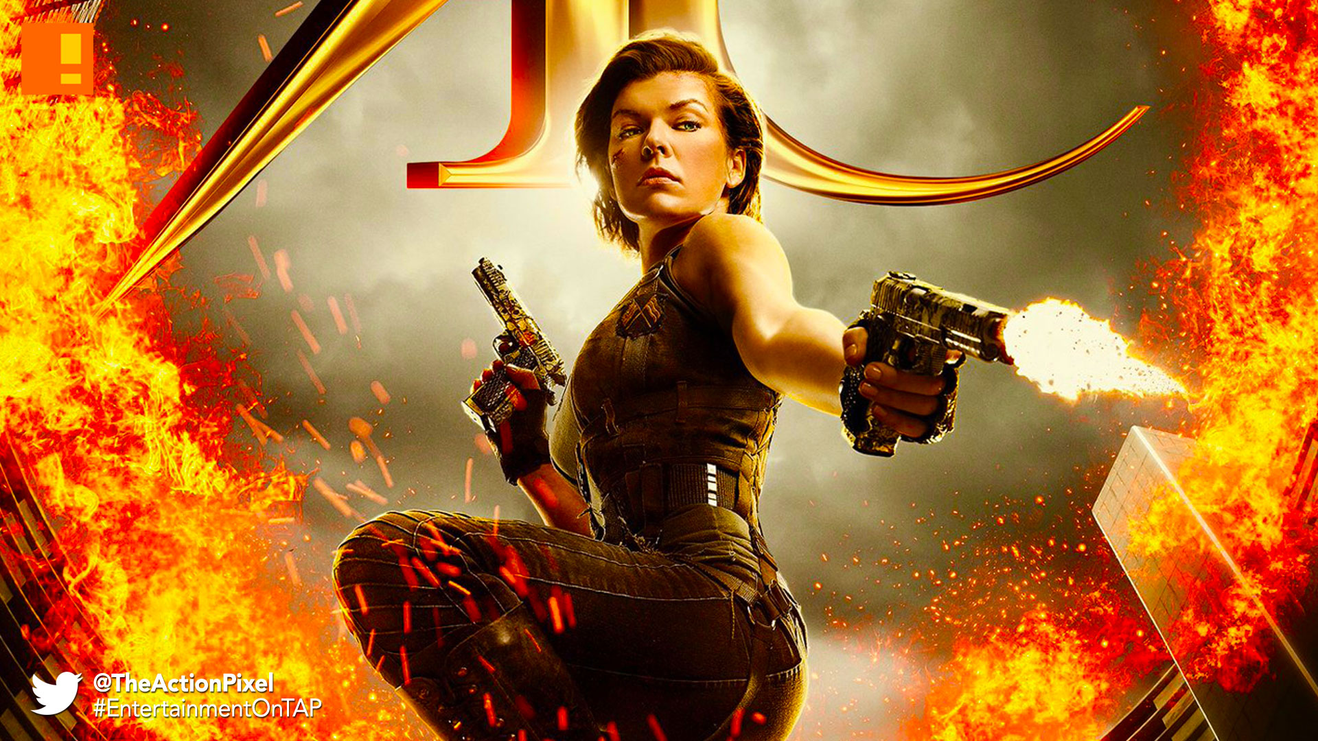 resident evil, resident evil the final chapter, poster, the action pixel, entertainment on tap, screen gems, trailer, teaser trailer