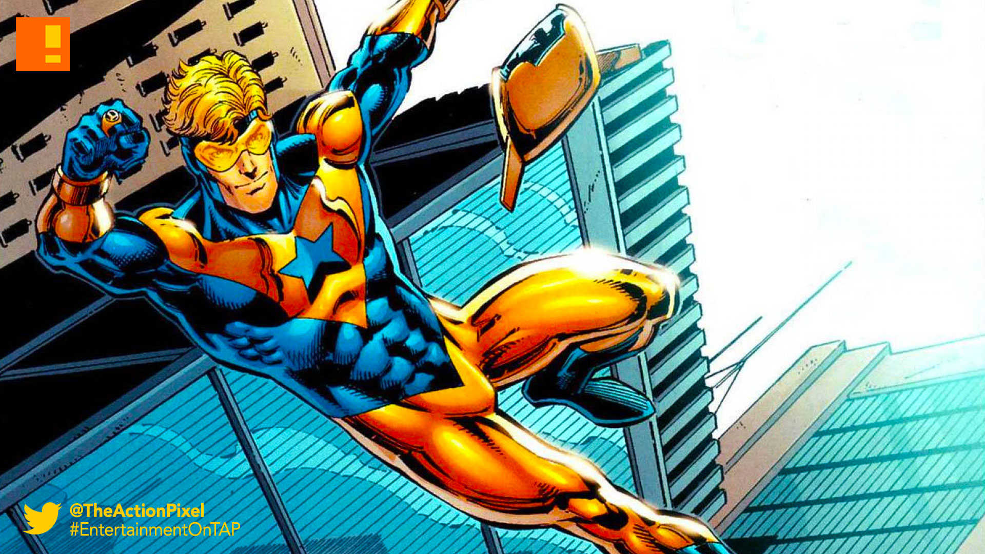 booster gold, dc comics, movie, the action pixel, entertainment on tap