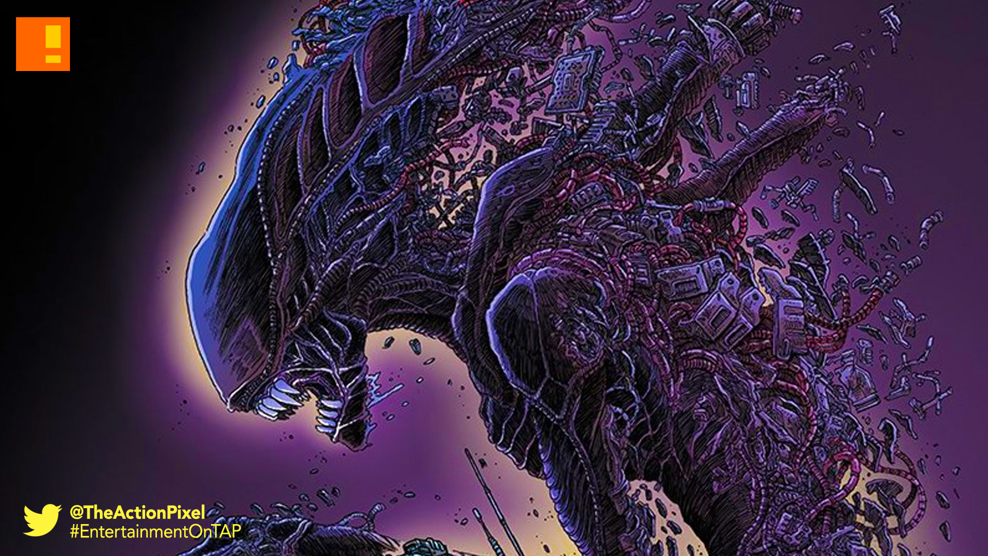 Aliens: The Original Comic Series, alien, aliens, alien day, dark horse , fox, dark horse comics, entertainment on tap, the action pixel, Aliens: Dead Orbit , dead orbit, xenomorph, cover art,
