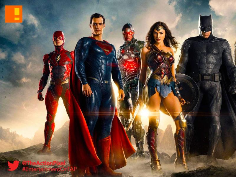 justice league, superman, cyborg, batman, aquaman, superman, the flash, cyborg, justice league, dc comics, sdcc, comic con, the action pixel, entertainment on tap,