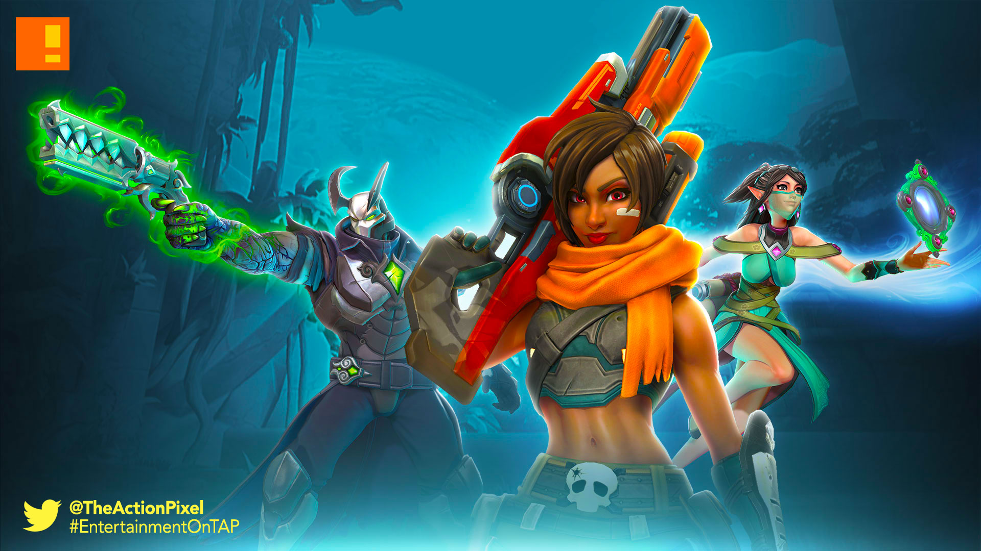 paladins, closed beta, beta, trailer, free, card mastery, champions of the realm