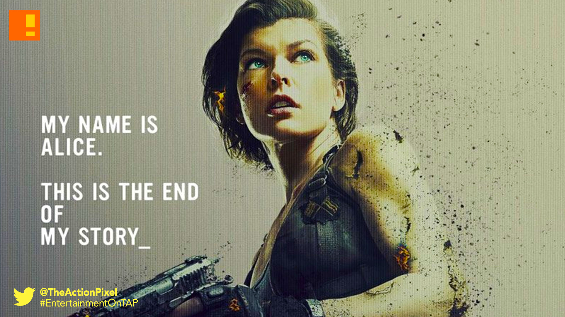 resident evil, resident evil the final chapter, poster, the action pixel, entertainment on tap, screen gems, trailer, teaser trailer,poster,