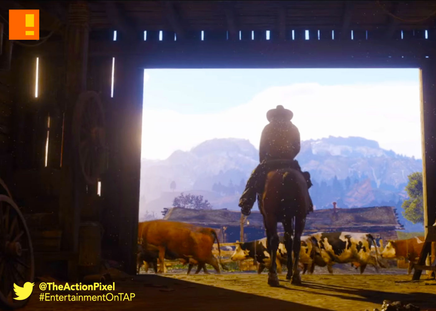 rockstar games, red dead redemption, entertainment on tap, the action pixel, rockstar games,trailer
