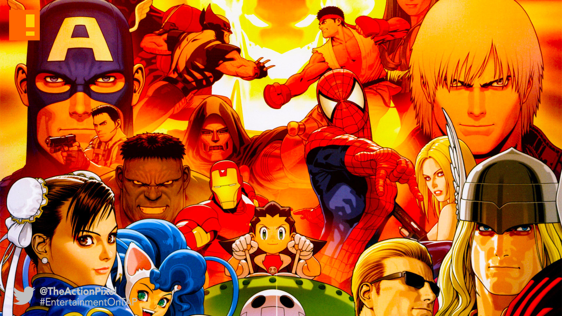 capcom vs Marvel, capcom, marvel vs. capcom, marvel, the action pixel, entertainment on tap,