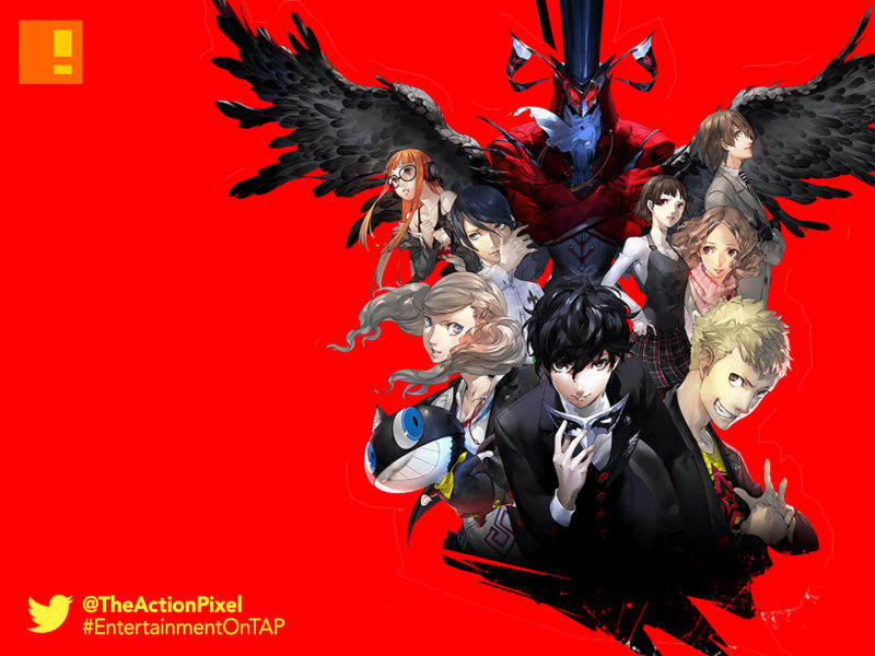 persona 5, sega ,atlus, take your heart, the action pixel, entertainment on tap, p studio, game mechanics trailer, anime