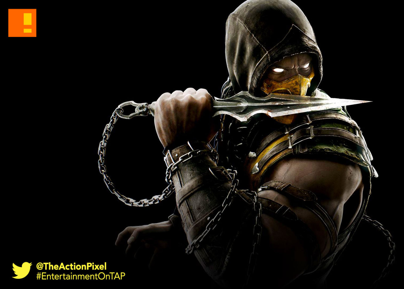 scorpion, mortal kombat, mkx, mortal kombat x, entertainment on tap, the action pixel,