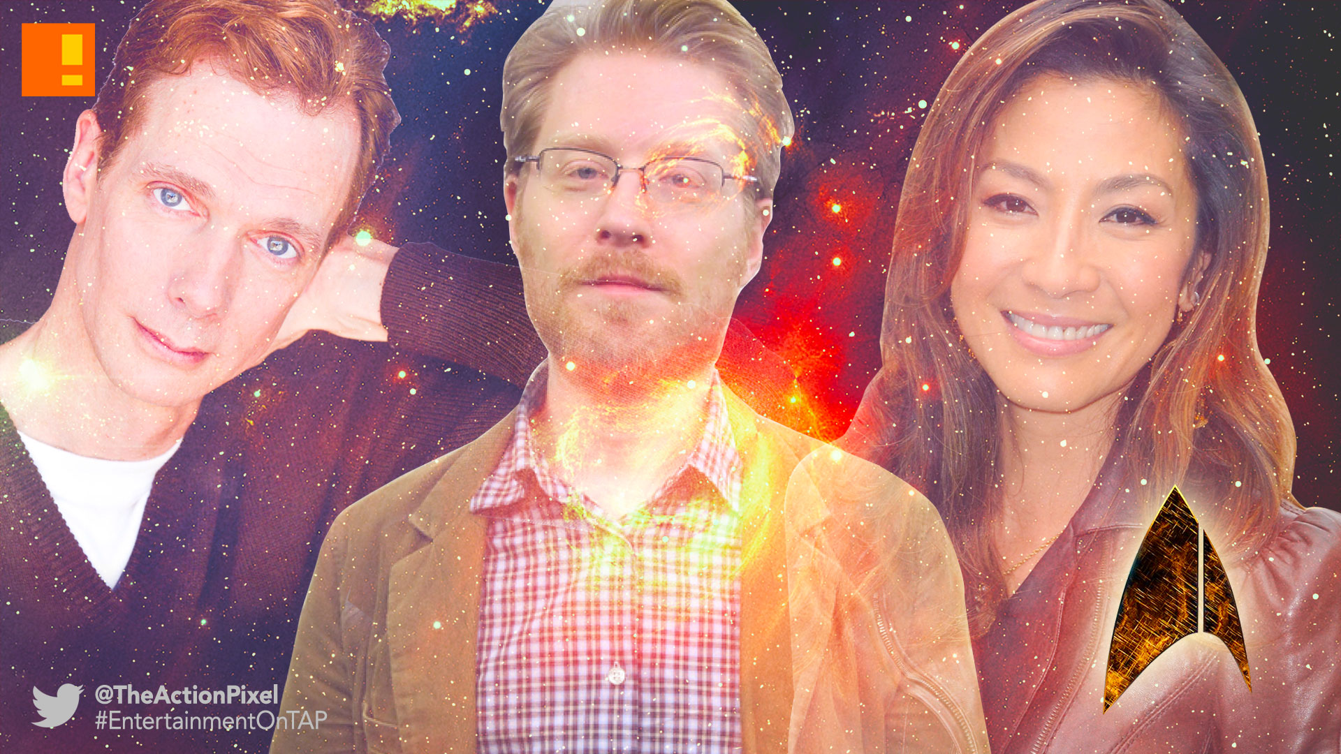 star trek, Logo, tv series, cbs, the action pixel, entertainment on tap, the action pixel, oug Jones, Michelle Yeoh , Anthony Rapp