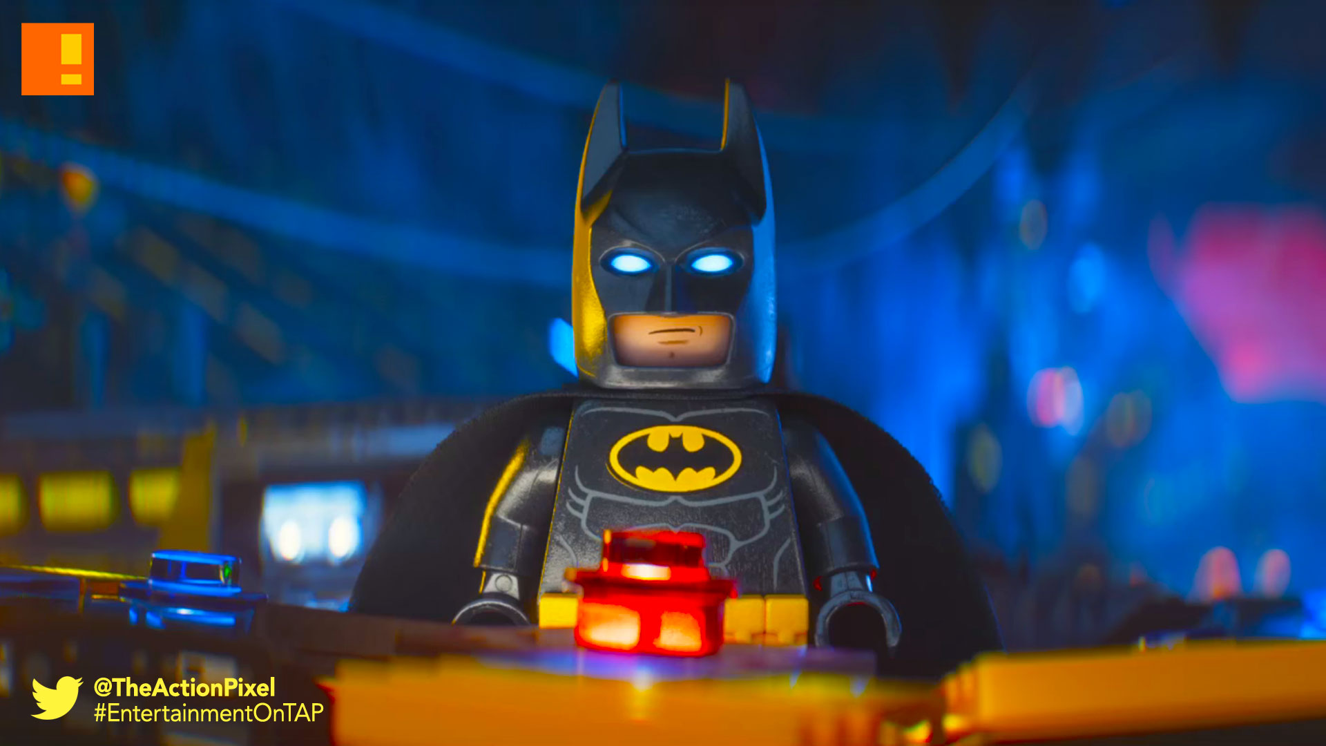 the lego batman movie, lego, batman, comic con, sdcc , trailer, the action pixel, wb, warner animation group, dc comics, warner bros. , entertainment on tap