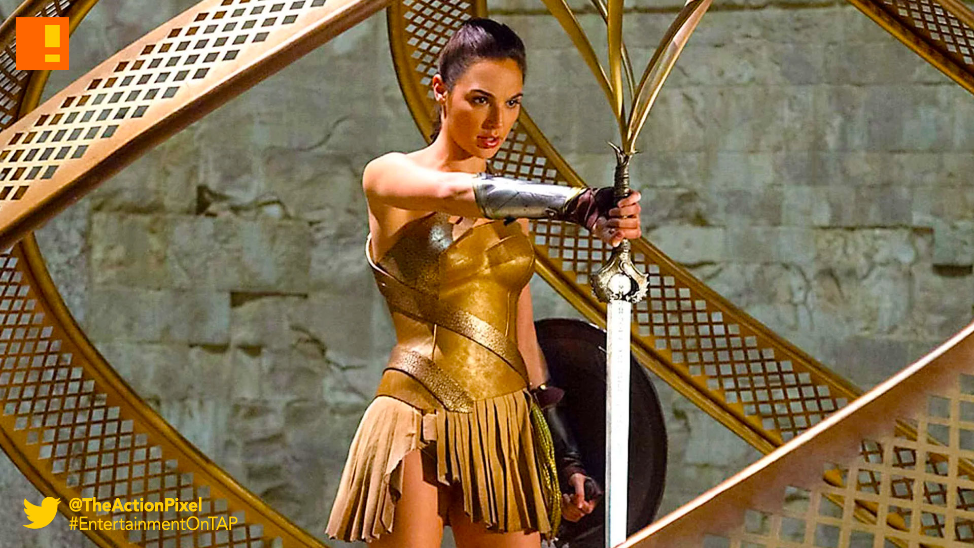 wonder woman, sword, the action pixel, entertainment on tap, wb pictures, warner bros. entertainment , the action pixel, gal gadot, ww,