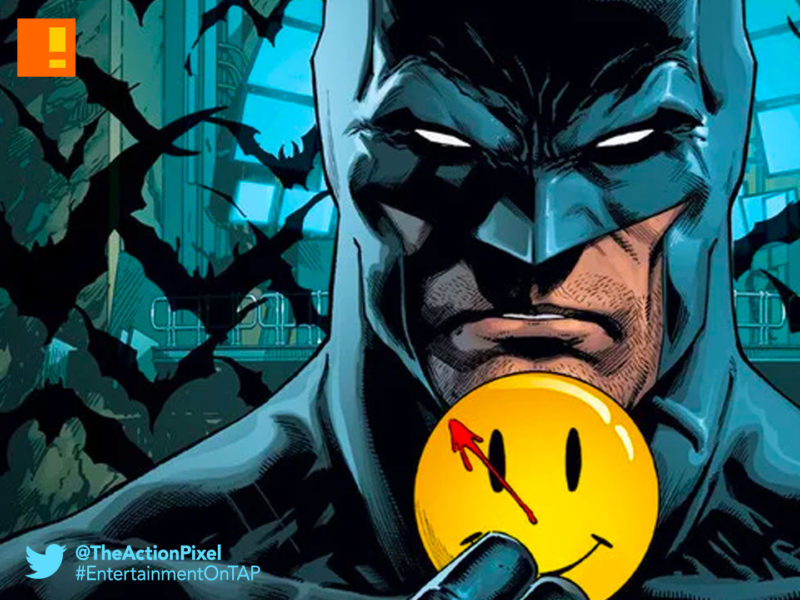 batman, the button, watchmen, dc comics, the action pixel, the flash, barry allen, bruce wayne, the dark knight , the scarlet speedster, detective, detective comics, the action pixel, entertainment on tap, dc comics, dc entertainment, rebirth, fabok,