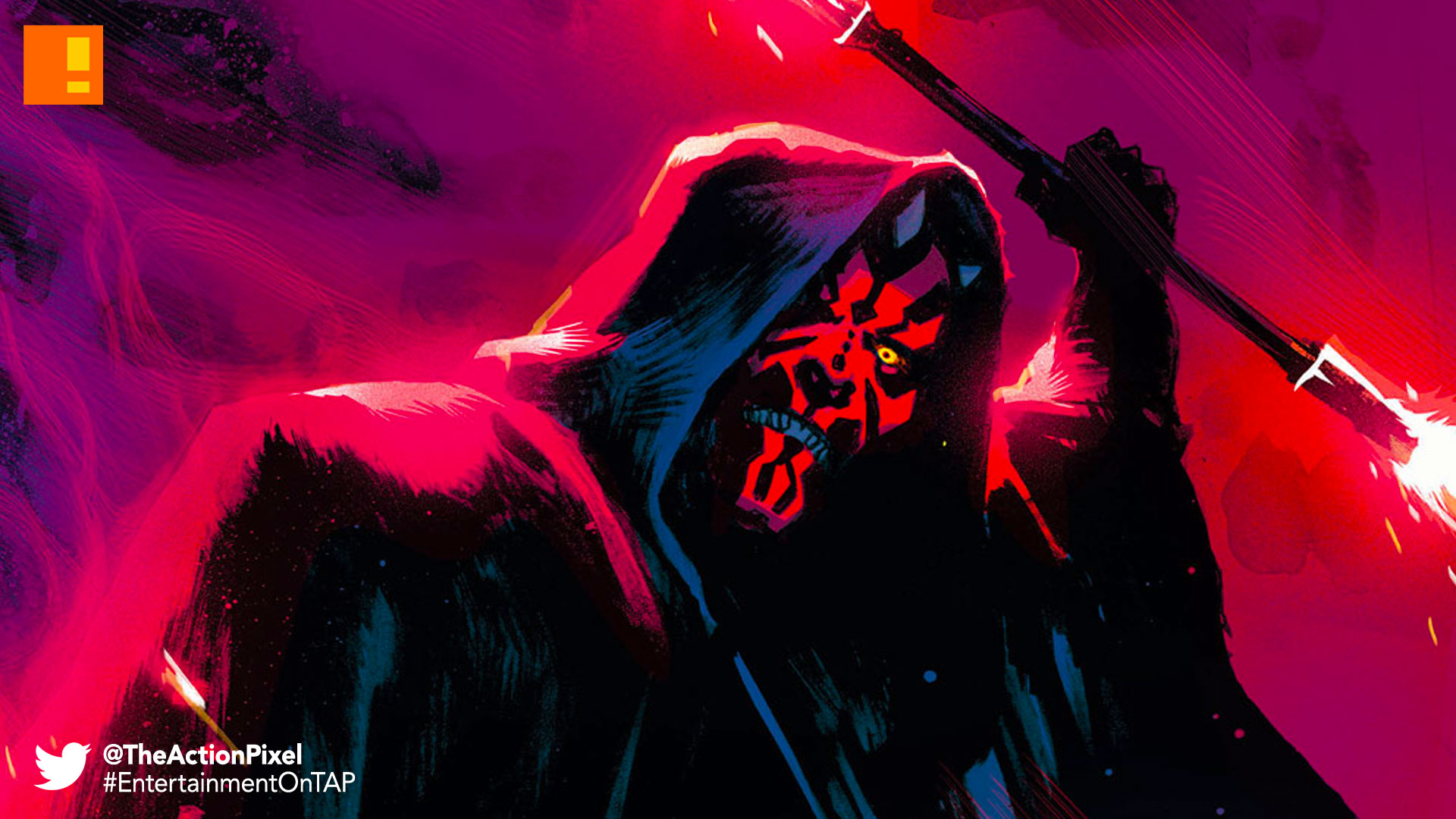 ,darth maul, star wars, lucasfilm, star wars comic, comics, marvel, the action pixel, entertainment on tap, darth sidious, lightsaber, dark side, force, disney, marvel comics, the action pixel, entertainment on tap,
