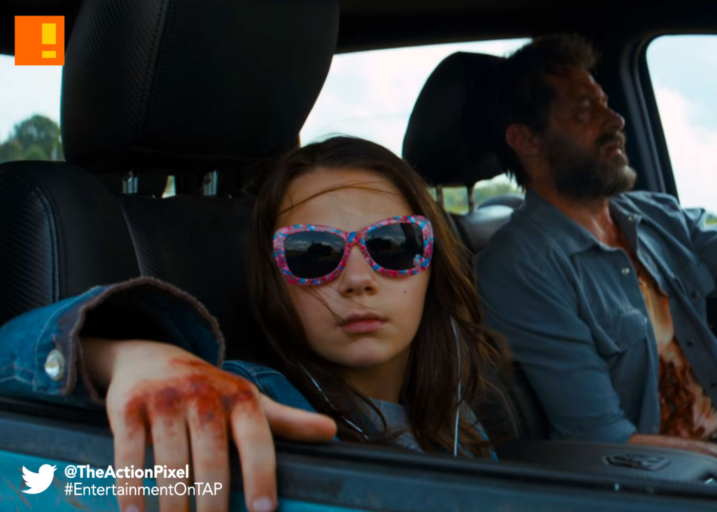 dafne keen, logan, hugh jackman, wolverine, 20th century fox, marvel , marvel comics, entertainment on tap, the action pixel, x-23, dafne keen, patrick stewart, hugh jackman, professor x, xavier,
