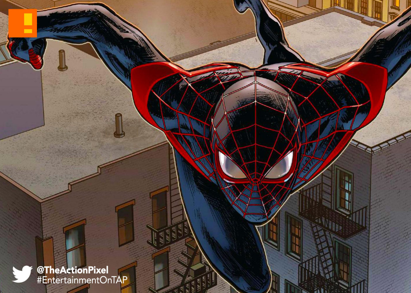 miles morales, spiderman, spider man, spider-man, sony, marvel, marvel comics, animated feature, animation, the action pixel, entertainment on tap,
