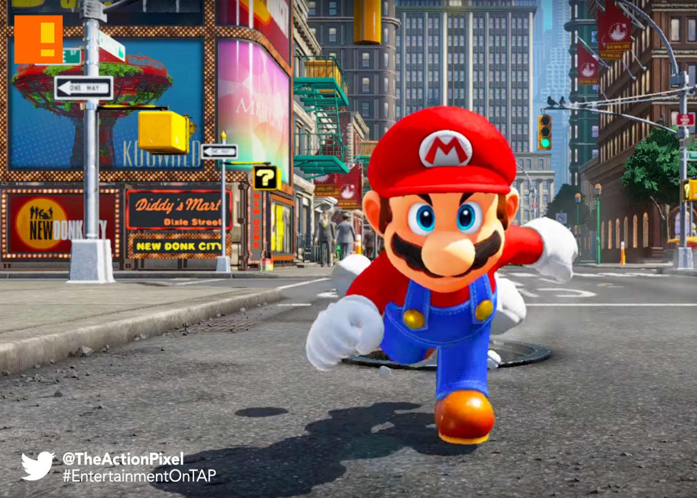 super mario ,odyssey,nintendo,switch, super mario odyssey, nintendo switch, the action pixel, mario, entertainment on tap, magic, mushroom kingdom,trailer,