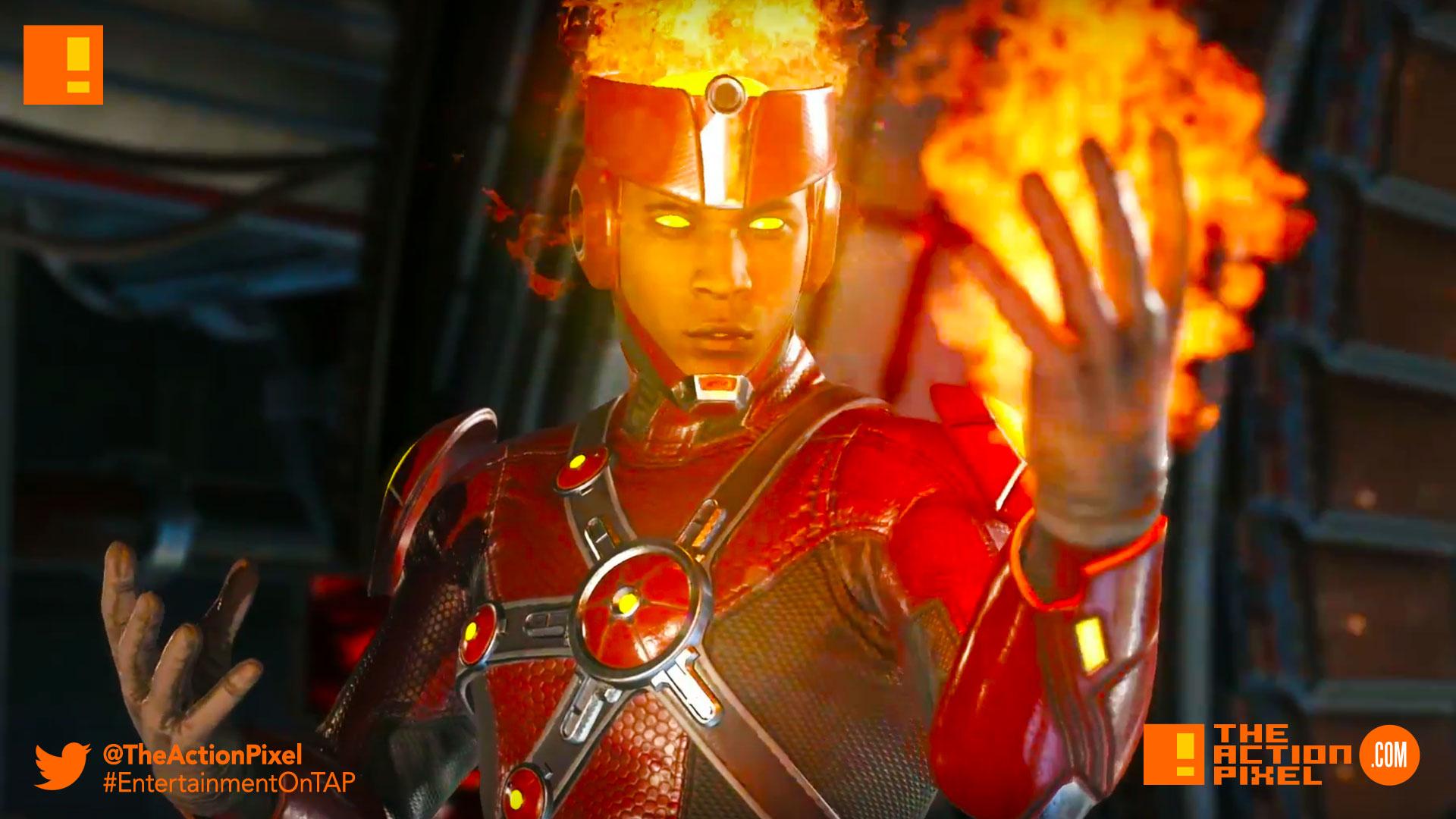 firestorm, injustice 2, wb games, netherrealm studios, the action pixel, dc comics, warner bros. entertainment , the action pixel, superman, dc comics, batman