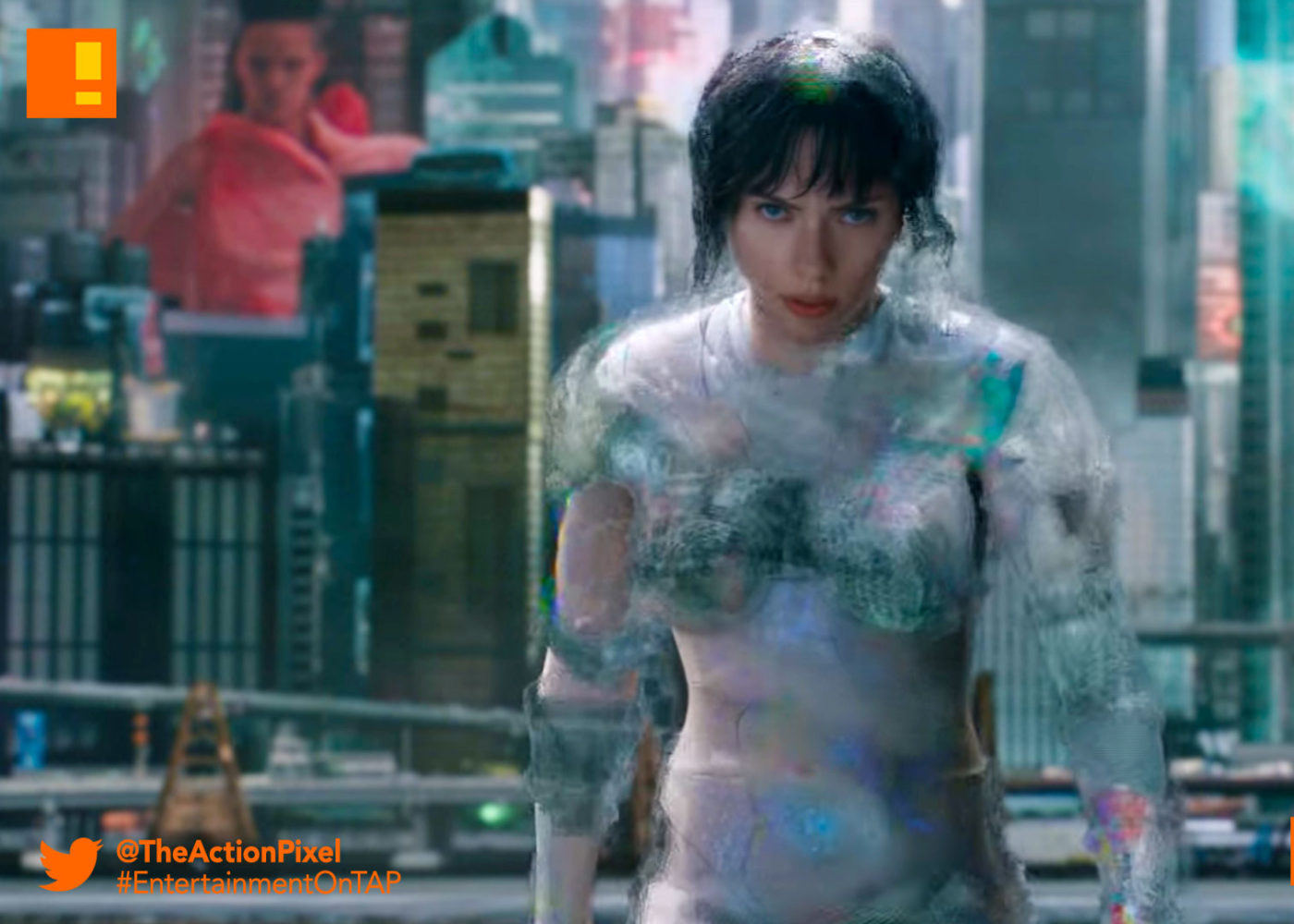 ghost in the shell, gits, scarlett johansson, the action pixel, entertainment on tap